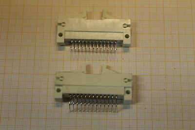 10x RFT Stiftleiste Steckerleiste 102-26 2x13 polig abgewinkelt TGL 3791 #AS-E