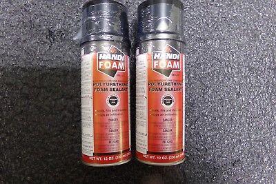 Lot Of 2 Handi-foam Straw Foam Sealant12 Oz Black P30053g Hh