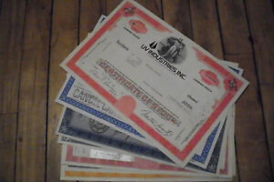 10 different USA old paper stocks and bonds certificates nice used 1920's-1970's