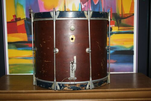 "1961 / 1962 LUDWIG DRUM CO. Snare Marching Drum 14"", Chicago USA, Keystone badge"