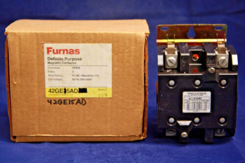 Furnas 42GE15AD Contactor 3 Pole 200-208V 60Hz Coil