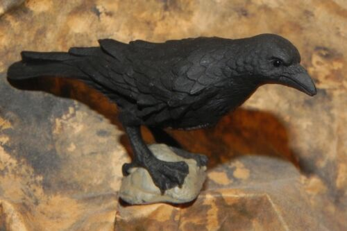 Raven Black Animal Figurine Wild Life Birds Diorama Cuervo Corbeau
