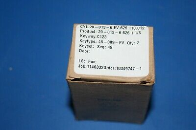 20-013 Schlage Mortise Cylinder C123 Keyway 2 Keys 1-18 Ar Cam 20 013 6 626 New
