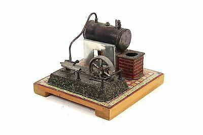 alte Gebrüder BING Dampfmaschine mit Antriebsaggregat Kessel GBN Dampf Maschine