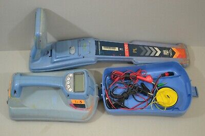 Radiodetection Rd7100 Pl Cable Pipe Locator Tx-5 Transmitter W Clamp Lead