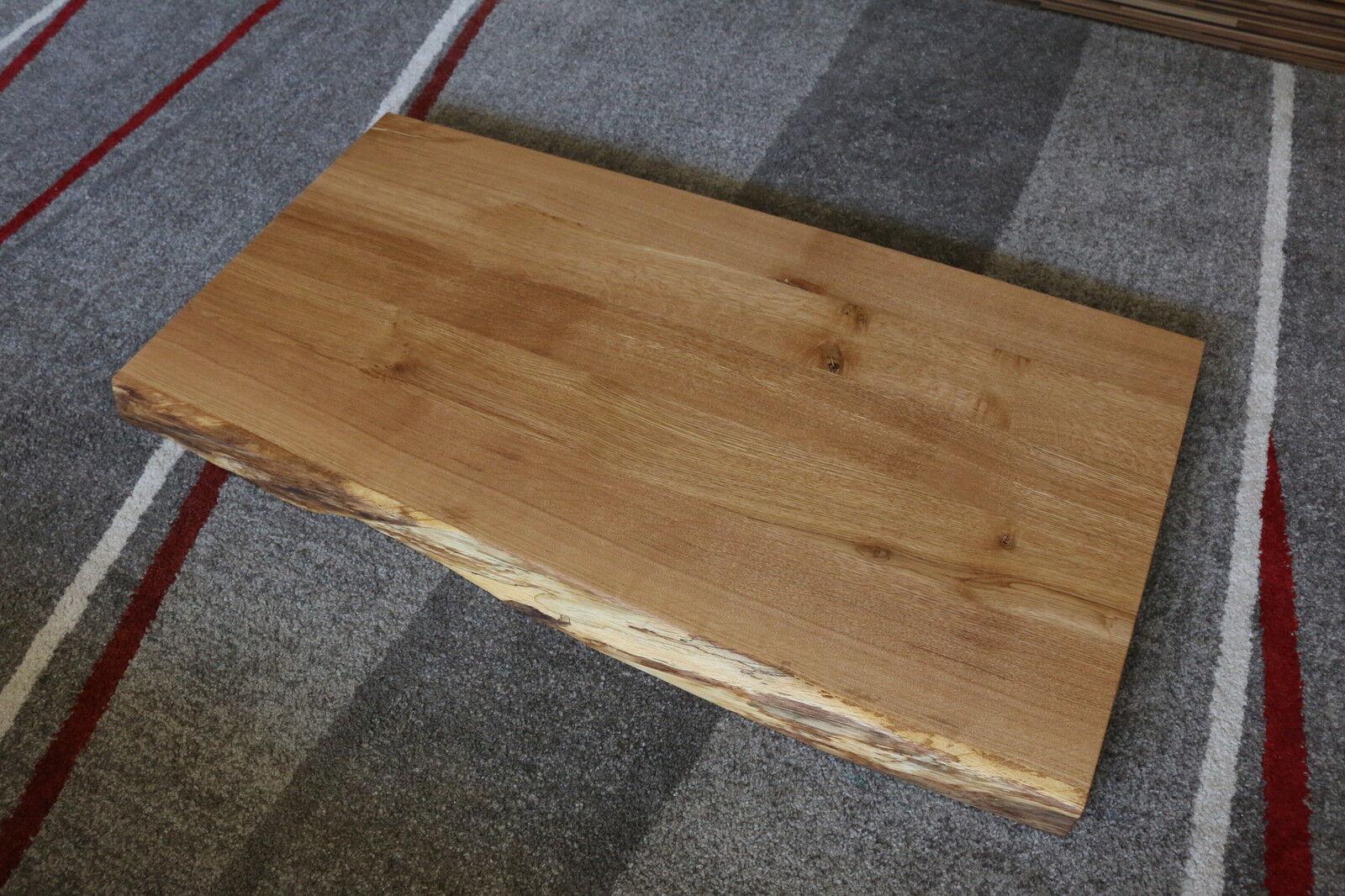tischplatte platte eiche massiv holz tisch brett leimholz 5 5 cm stark baumkante eur 380 00. Black Bedroom Furniture Sets. Home Design Ideas