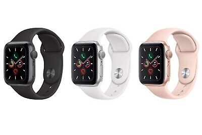 NEW Apple Watch Series 5 44mm | GPS | Space Gray Aluminum Case Silicone Band!