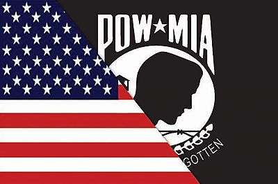 RUMBLING PRIDE REVERSIBLE USA/POW-MIA MOTORCYCLE FLAG  6X9 MADE IN USA