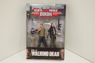 Merle and Daryl Dixon Action Figures, Crossbow, The Walking Dead, McFarlane Toys