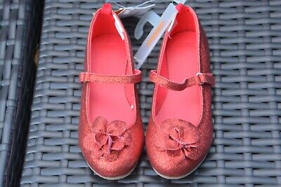 NEW Gymboree glitter red Mary Jane with flower Size - Red Glitter Mary Jane