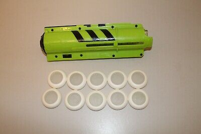 Lot of Nerf Vortex Discs and Firefly Clip Magazine Glow In The Dark Tech Kit