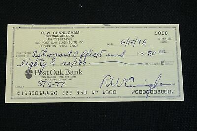 Walt Cunningham Signed Canceled Bank Check Apollo7 Astronaut Autograph