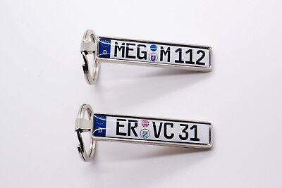 Geschenk Valentinstag Schlüsselanhänger Minikennzeichen Auto KFZ individuell