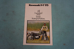 NOS 1975 Kawasaki F7 175 Dealer Motorcycle Sales Brochure