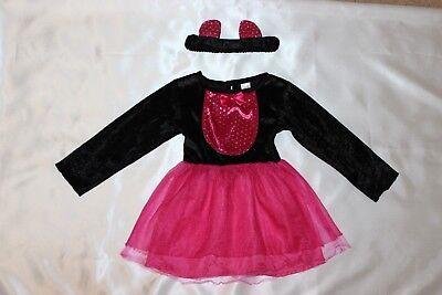 100 (4) Katzenkostüm Hexen Kitty Mädchen Halloween Catsuit Kostüm 2-3 Jahre ()