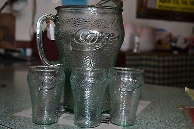 Coca-Cola pitcher and glasses