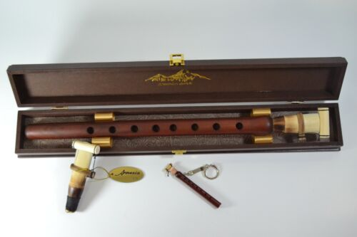 New Armenian professional apricot DUDUK 2 reeds with wood box+gift mini duduk