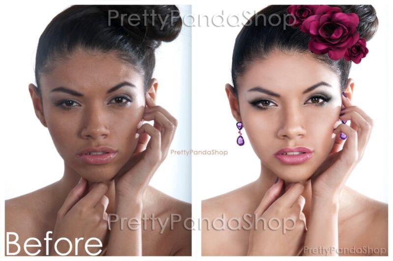 Professional Photo Editing Retouching Restoration Basic Natural to Full Glitz