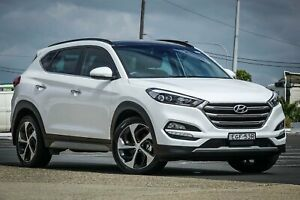 2017 Hyundai Tucson TLE2 MY18 Highlander D-CT AWD White 7 Speed Sports Automatic Dual Clutch Wagon Greenacre Bankstown Area Preview