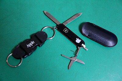 Rare Vintage Apple Computer Victorinox Mulch Knife Tool Keychain Macintosh Logo