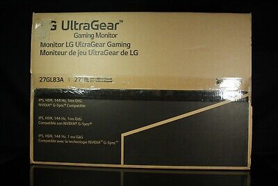"LG 27GL83A-B 27"" Ultragear QHD IPS 1ms NVIDIA G-SYNC Compatible Gaming Monitor"