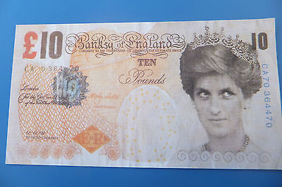 The now famous Banksy tenner, Has cheap as chips from my collection