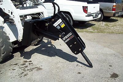 Skid Steer Hydraulic Hammer Breaker 680 Lbs Impactgreat On Kubota Svl75 Loader