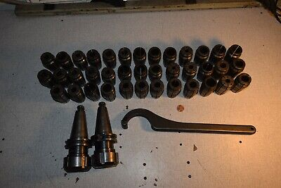 Universal Eng. 91964 Cat40 Cat 40 Chuck Tool Holder With Af Spring Collets Lot