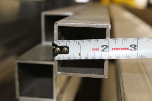 """2""""x 2""""x 1/8"""" Wall x 60"""" Long ALUMINUM SQUARE TUBE 6063 T52 Extruded (5 foot long"""