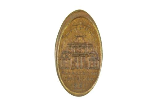 1901 ELONGATED CENT PAN-AM EXPO TEMPLE OF MUSIC **NICE**  #1