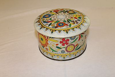 Vintage Decorative Floral Daher Design Tin Box Container Made in England