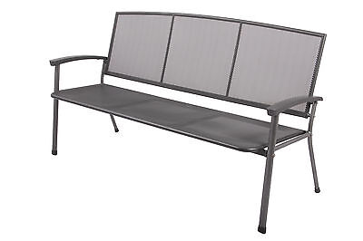 Gartenbank Rivo 3 Sitzer aus Streckmetall Garten Terrasse Balkon Bank Outdoor