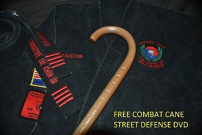COMBAT CANE- SELF DEFENSE- MARTIAL ARTS- CUSTOM OAK DOJO TRAINING CANE- USA