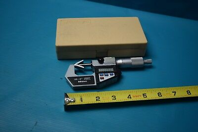 Used Mitutoyo 314-721 .05-.6 V-anvil Micrometer With Case