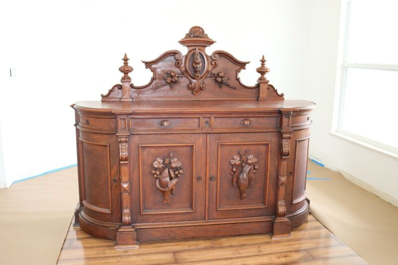 Antique French Renaissance Carved Hunt Buffet Sideboard