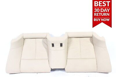 06-10 BMW 650i Rear Right & Left Lower Bench Seat Cushion Cover Assembly Beige