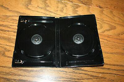Lot Of 10 New Dvdmedia Cases Black 14mm Double Disc Wrap Around