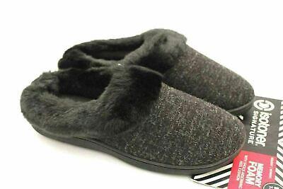 Isotoner Women Slippers Memory Foam Sweater Knit Harper Hoodback Flat