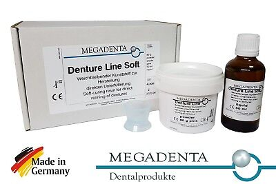 Dental Denture Direct Reline Self Cure Soft Resin Acrylic Germany Powder Liquid