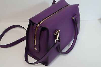 A New Day - Purple Satchel Large Dome Handbag Purse
