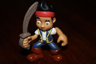 Jake And The Neverland Pirates Jake Figure 2 1/2  Inches With Sword Free Shippin - Jake And The Neverland Pirate Sword