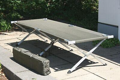 US Feldbett extra stabil oliv Bundeswehr Army Aluminium Liege Outdoor Camping BW