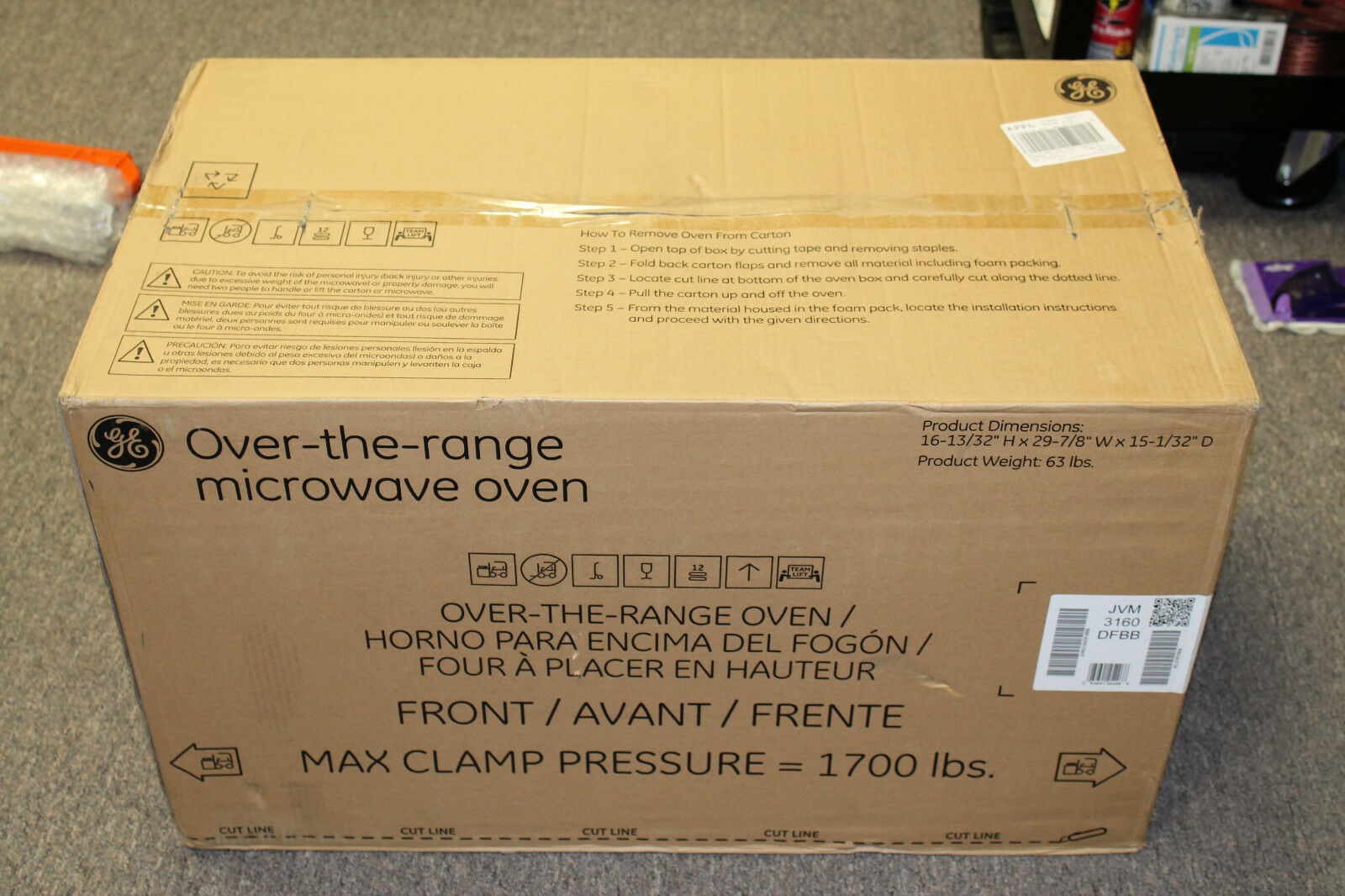 new 1 6 cu ft over