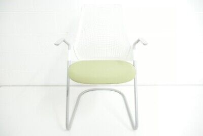 Herman Miller Sayl Side Sled Base Stacking Chairs Po952581