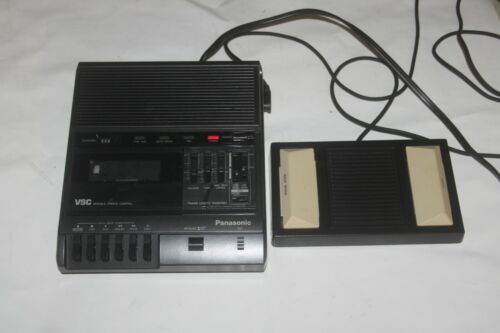 Panasonic RR-830 Standard Cassette Transcriber With Foot Controller.