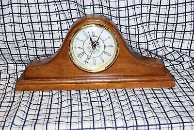 Vintage Sunbeam Quartz Wood Mantle / Shelf Table