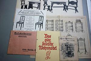 7 x Katalog Möbel um 1910/1920 Wohnmöbel Holzdrehwareb Stühle Regale Dielenmöbel