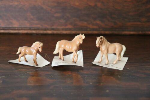 Hagen Renaker Shetland Pony Family - 3 Piece Set w/Stallion, Mare, and Foal