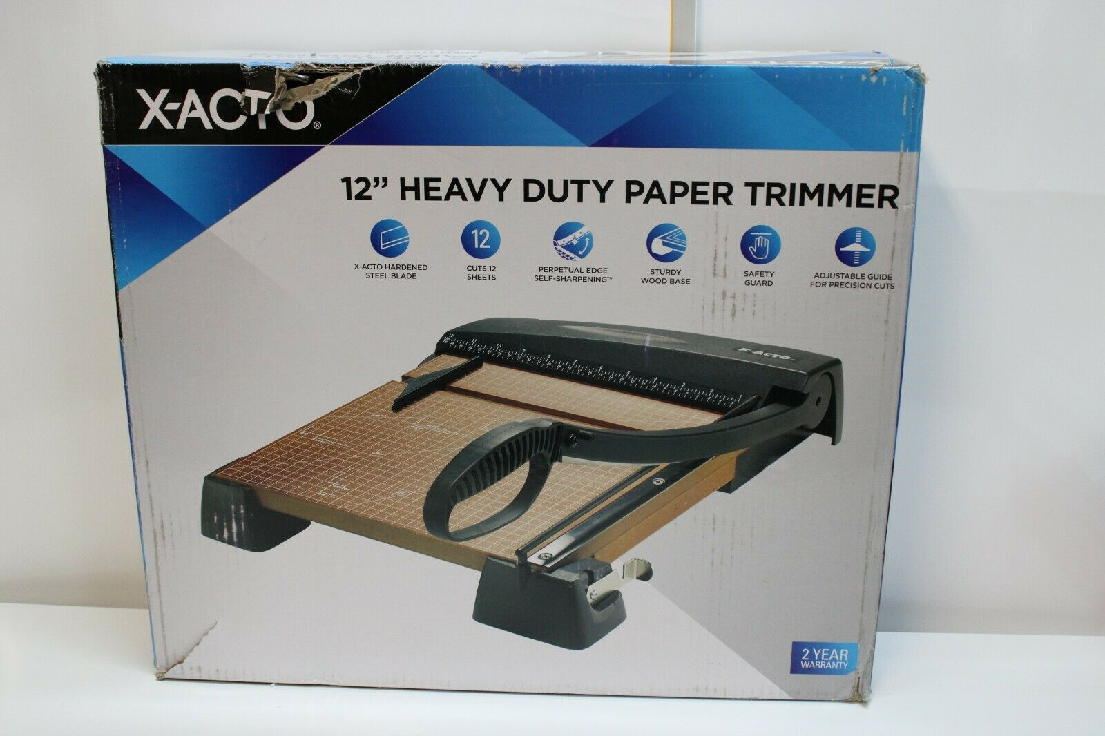 X-ACTO® Heavy-Duty 15-Sheet Paper Trimmer, Wood Base, 12 x