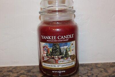 Yankee Candle Williamsburg 10th Anniversary Large 22oz Classic Jar Candle